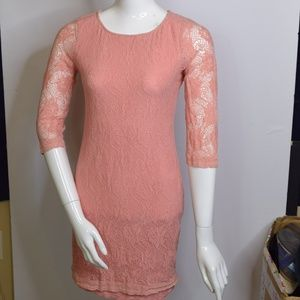 Sanctuary Clothing Pink Lace Dress Size Small